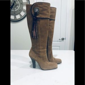 BCBGMAXAZRIA leather suede knee boots 36B